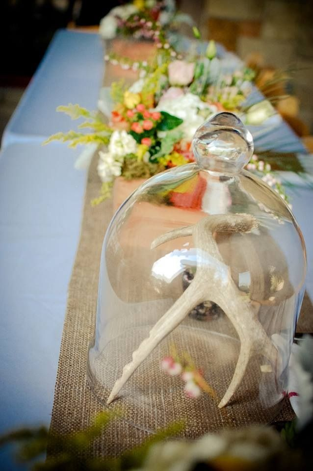 Sweet Meadow Wedding Decor Inspiration Antlers Cloches
