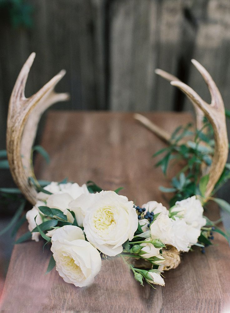 Sweet Meadow Wedding Decor Inspiration Antlers Amp Cloches